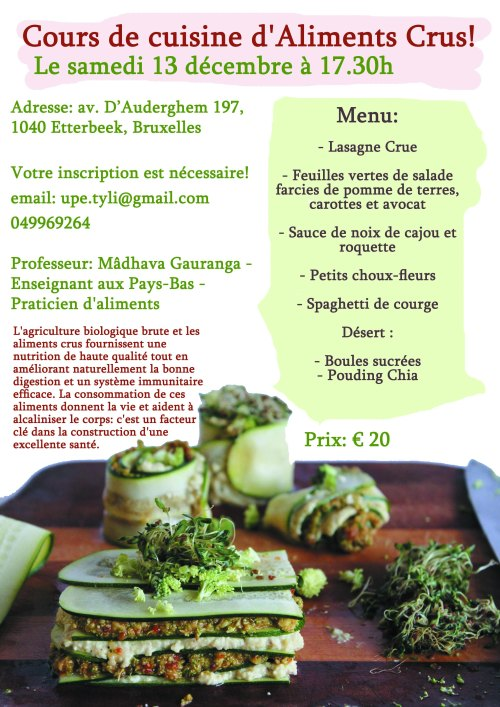 raw food cooking class