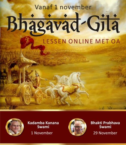 Bhagavad-gita studie online vanaf 1 november 2020